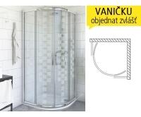 PXR2N DESIGN Plus sprchový kout PXR2N/900 (880-905mm), výška 2000mm, profil:brillant, výplň:potisk, 532-900R55N-00-17, Roltechnik
