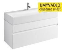 Quattro skříňka pod umyvadlo 120 cm, lesklá bílá, 89355, Kolo