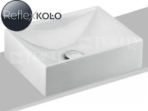 Quattro umyvadlo na desku 50 x 32 cm, bez otvoru, bílé+REFLEX
