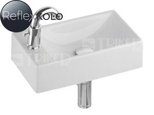 Quattro umývátko 40 cm s otvorem vlevo, bílé+REFLEX