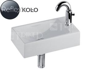 Quattro umývátko 40 cm s otvorem vpravo, bílé+REFLEX