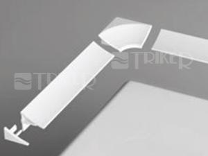 Ravak krycí lišta 11 2000mm, bílá
