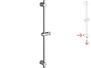 Ravak tyč sprchová 60 cm 975.00 se stěnovým vývodem, chrom