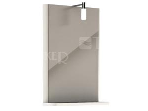 Rekord zrcadlo s osvětlením 44,3 x 60,5 cm bílé