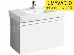 Renova Nr.1 Plan skříňka s 1+1 zásuvkou pod umyvadlo 100 cm, lesklá bílá-lak