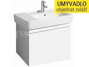 Renova Nr.1 Plan skříňka s 1+1 zásuvkou pod umyvadlo 75 cm, lesklá bílá-lakovaná