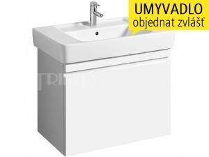 Renova Nr.1 Plan skříňka s 1+1 zásuvkou pod umyvadlo 85 cm, lesklá bílá-lakovaná