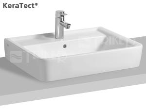Renova Nr.1 Plan umyvadlo na desku 55 x 44 cm s otvorem pro baterii, bílé+KeraTect