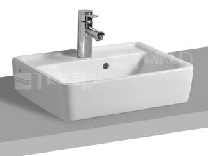 Renova Nr.1 Plan umývátko na desku 50 x 38 cm s otvorem pro baterii, bílé
