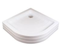 Ronda PU vanička akrylátová samonosná 80 x 80 x 18,5cm R500, bílá, A204001120, Ravak