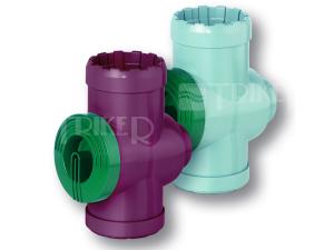 Roth filtr pro dešťový svod hnědý, plast