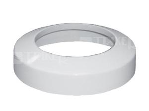 Rozeta pro dopojení WC - nízká 110/41 mm, bílá