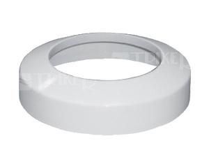 Rozeta pro dopojení WC - nízká 110/41mm, bílá
