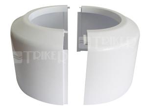 Rozeta pro dopojení WC - vysoká, dělená 110/100 mm, bílá