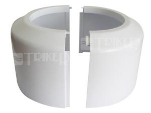 Rozeta pro dopojení WC - vysoká, dělená 110/100mm, bílá
