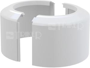 Rozeta vysoká pro dopojení k WC Alcaplast A980 110/100mm bílá, dělená