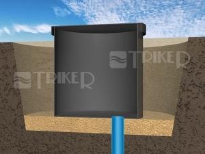 Šachta studnařská Pramosat  800 x 1000 x 200 mm se dnem
