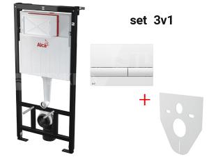 Sádromodul AM101/1120 pro závěsné WC do sádrokartonu, set 3v1