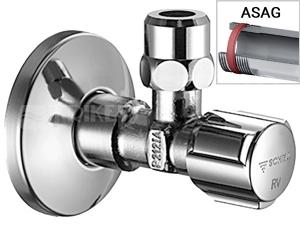 Schell COMFORT Rohový ventil ze zpětnou klapkou