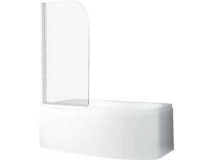 Screen Pro vanová zástěna 810 x 1400 mm, profil:bílý, výplň:transparent