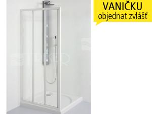 SD2 sprchové dveře SD2/90, profil:bílý, výplň:chinchila