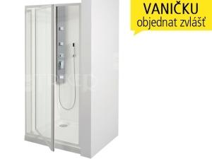 SDK sprchové dveře SDK 90, profil:bílý, výplň:chinchila