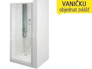 SDKR sprchové dveře SDKR 1/90, profil:bílý, výplň:pearl
