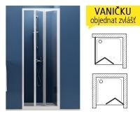 SDZ3 sprchové dveře SDZ3-80 (770-810mm) profil:bílý, výplň:pearl, 02V4010011, Ravak