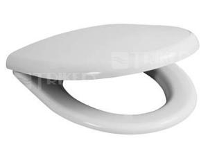 Sedátko Deep oválné duroplast bílé, s plastovými úchyty