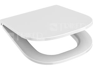 Sedátko Deep pravoúhlé SLIM kovové panty, bílé