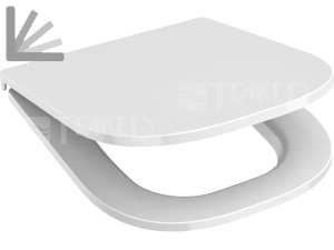 Sedátko Deep pravoúhlé SLIM se zpomalovacím mechanismem bílé