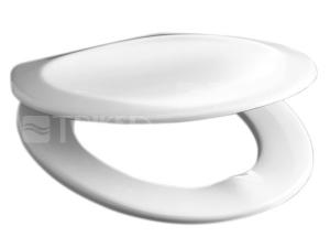 Sedátko Dino/Wega duroplast bílé, kovové panty