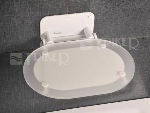 Sedátko do sprchy chrome Clear/White