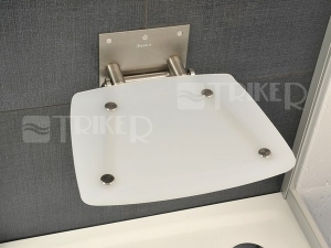 Sedátko do sprchy OVO B opál (průsvitně bílé)