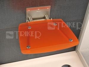 Sedátko do sprchy OVO B orange (průsvitně oranžové)