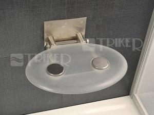 Sedátko do sprchy OVO P clear (čiré)