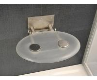 Sedátko do sprchy OVO P opal (průsvitně bílé), B8F0000001, Ravak