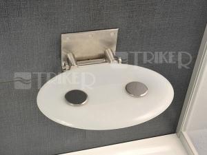 Sedátko do sprchy OVO P opal (průsvitně bílé)