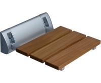 Sedátko do sprchy Seat Eco chrom/dřevo, 8000173, Roltechnik
