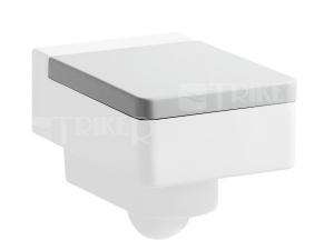 Sedátko Living City se zpomalovacím mechanismem, bílé