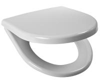 Sedátko Lyra plus duroplast se zpomalovacím mechanismem, plastové úchyty, bílé (závěsné klozety), H8933853000001, Jika