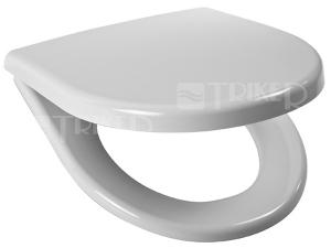 Sedátko Lyra plus duroplast, nerezové úchyty, bílé (závěsné klozety + kombinační klozety Rimless)