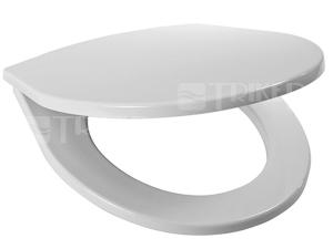 Sedátko Lyra plus termoplast, plastové úchyty, bílé (kombi klozety)