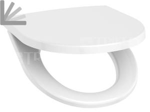 Sedátko Lyra Plus/Tigo duroplastové se zpomalovacím mechanismem, kovové úchyty, bílé