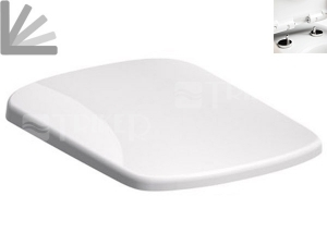 Sedátko Nova Pro duroplastové, pravoúhlé se zpomalovacím mechanismem, bílé (Click2Clean)