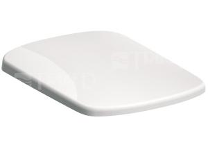 Sedátko Nova Pro duroplastové, pravoúhlé se zpomalovacím mechanismem, bílé (instalace shora)