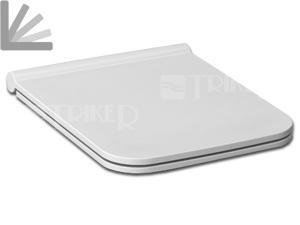 Sedátko Pure SLIM duroplastové se zpomalovacím mechanismem bílé