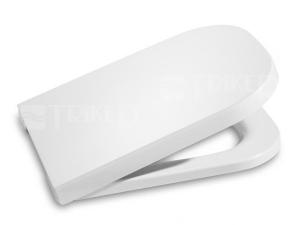 Sedátko The Gap se zpomalovacím mechanismem s nerezovými úchyty, bílé