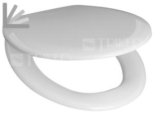 Sedátko Zeta duroplastové se zpomalovacím mechanismem, plastové panty bílé