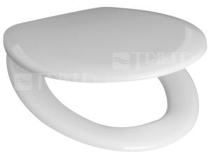 Sedátko Zeta termoplastové bílé, kovové panty